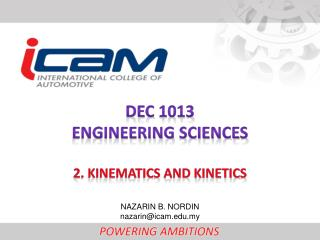 DEC  1013 ENGINEERING  SCIENCEs