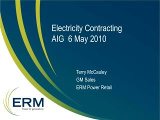 Electricity Contracting AIG  6 May 2010