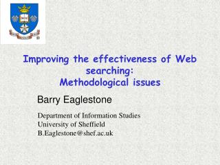 Improving the effectiveness of Web searching:  Methodological issues