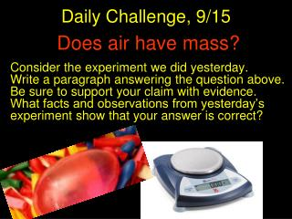 Does air have mass?