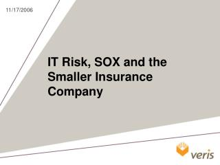 IT Risk, SOX and the Smaller Insurance Company