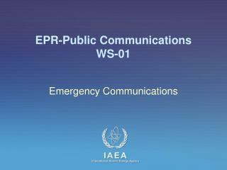 EPR-Public Communications WS -01