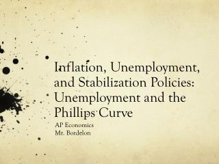 Inflation, Unemployment, and Stabilization Policies:  Unemployment and the Phillips Curve