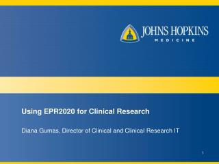 Using EPR2020 for Clinical Research