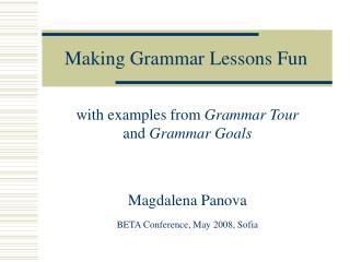 Making Grammar Lessons Fun