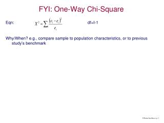 FYI: One-Way Chi-Square