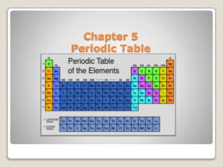 Chapter 5  Periodic Table