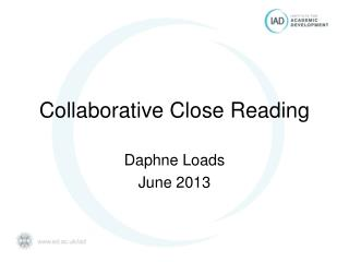 Collaborative Close Reading