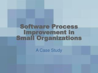 Software Process Improvement in Small Organizations
