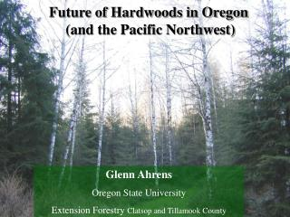 Future of Hardwoods in Oregon  (and the Pacific Northwest)