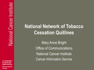 National Network of Tobacco Cessation Quitlines