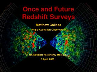 Once and Future Redshift Surveys