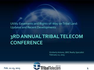 3rd Annual Tribal Telecom Conference