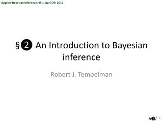 §❷ An Introduction to Bayesian inference