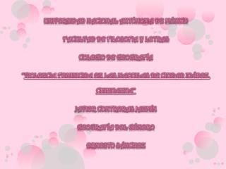UNIVERSIDAD NACIONAL AUTÓNOMA DE MÉXICO FACULTAD DE FILOSOFIA Y LETRAS COLEGIO DE GEOGRAFÍA