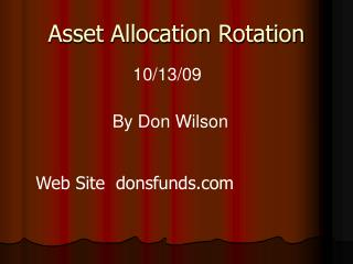 Asset Allocation Rotation