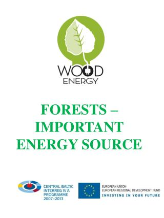 FORESTS – IMPORTANT ENERGY SOURCE