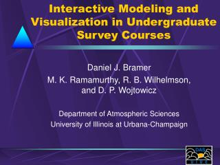 Interactive Modeling and Visualization in Undergraduate Survey Courses