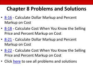Chapter 8 Problems and Solutions