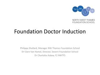 Foundation Doctor Induction