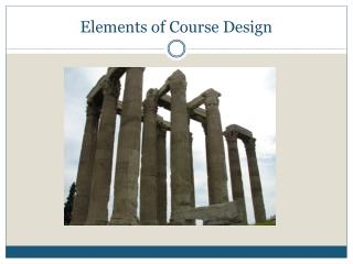 Elements of Course Design