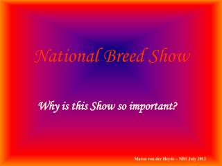 National Breed Show