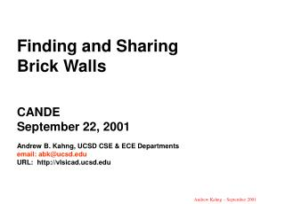 1999 ITRS Design Technology Metrics and Red Bricks