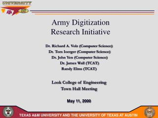 Army Digitization  Research Initiative