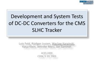 Development and System Tests of DC-DC Converters for the CMS SLHC Tracker