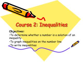 Course 2: Inequalities