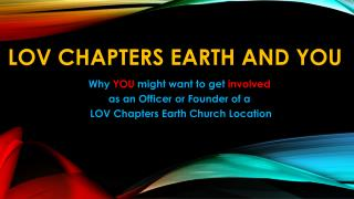 LOV Chapters Earth and You