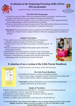 Evaluation of the Enhancing Parenting Skills (EPaS) 2014 programme