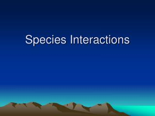sci 256 the implication of species interactions in ecosystem management and restoration of your chos