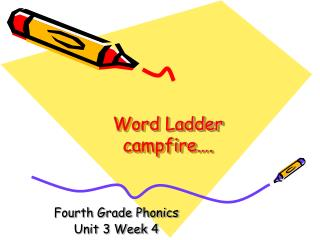 Word Ladder campfire….