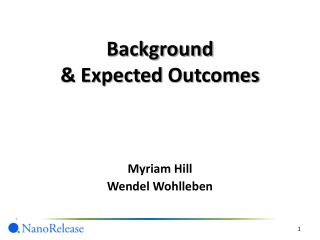 Background & Expected Outcomes