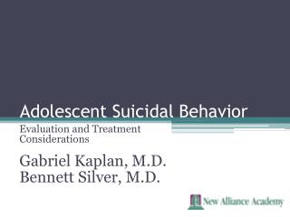 Adolescent Suicidal Behavior