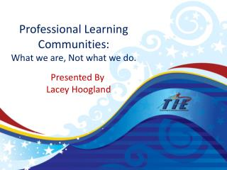 Professional Learning Communities:  What we are, Not what we do.