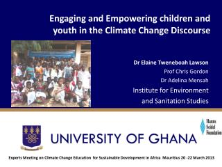 Engaging and Empowering children and youth in the Climate Change Discourse