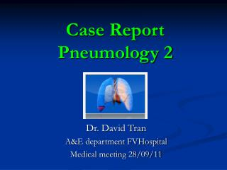 Case Report  Pneumology 2