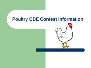 Poultry CDE Contest Information