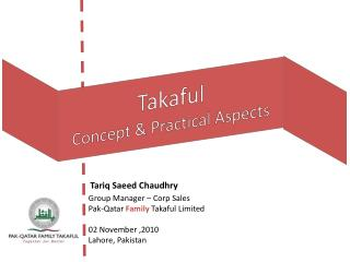 Takaful Concept & Practical Aspects