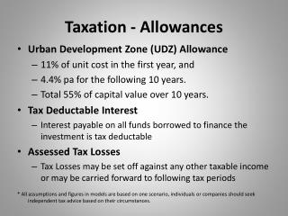 Taxation - Allowances