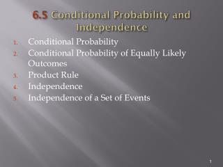 6.5  Conditional Probability and Independence