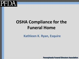OSHA Compliance for the Funeral Home