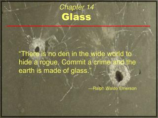 Chapter 14 Glass