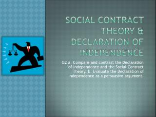 Social Contract Theory & Declaration of Independence