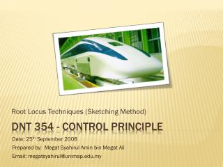 DNT 354 - Control Principle