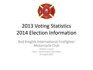 2013 Voting  Statistics 2014 Election Information