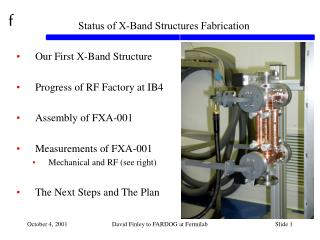 Status of X-Band Structures Fabrication