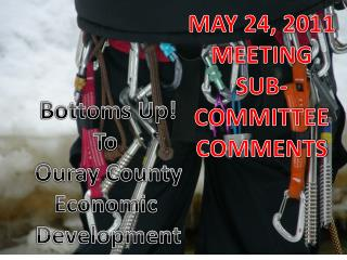 Bottoms Up! To  Ouray County Economic  Development